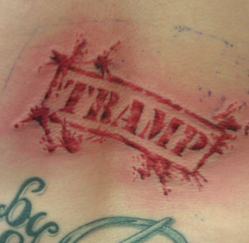 labels stamps tattoos funny