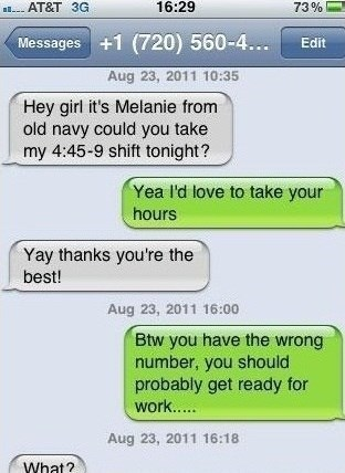 work,wrong numbers,funny