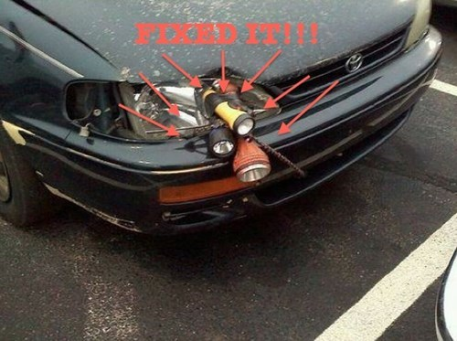 one headlight cars flash lights funny - 7635036672