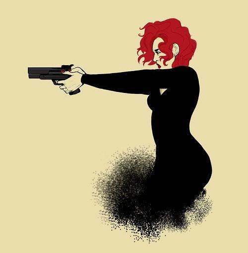 art Black Widow funny avengers - 7635043072
