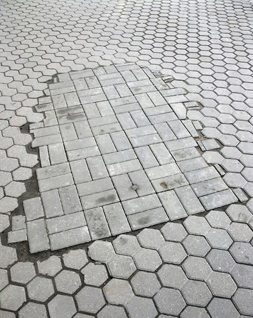 ran out sidewalks funny tiles - 7635081472