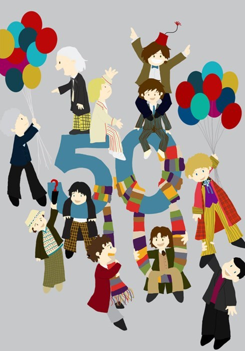 Fan Art doctor who 50th anniversary - 7635088128