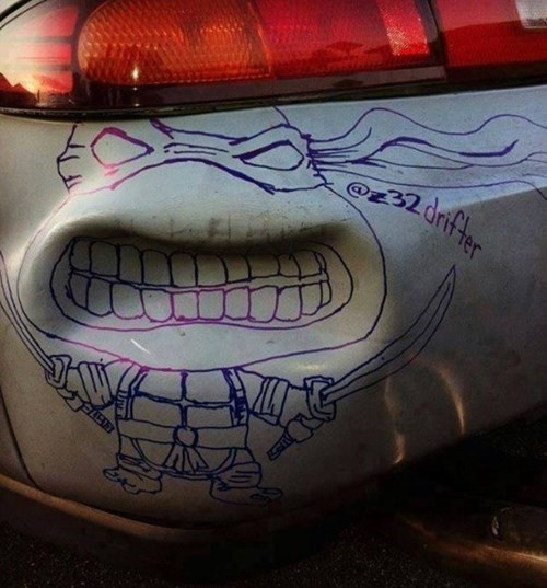 TMNT cars nerdgasm hacked irl funny g rated win - 7635132928