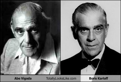 Abe Vigoda and Boris Karloff look a likes.