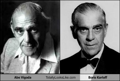 Abe Vigoda and Boris Karloff look a likes.