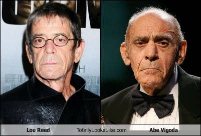Lou Reed totally looks like old people abe vigoda funny - 7635199744
