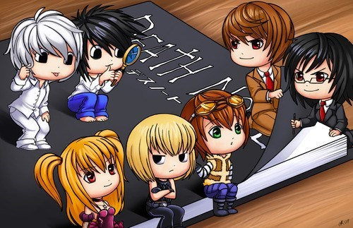 anime Fan Art cute death note - 7635220480