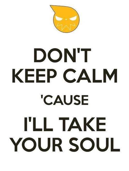anime soul eater keep calm - 7635246336
