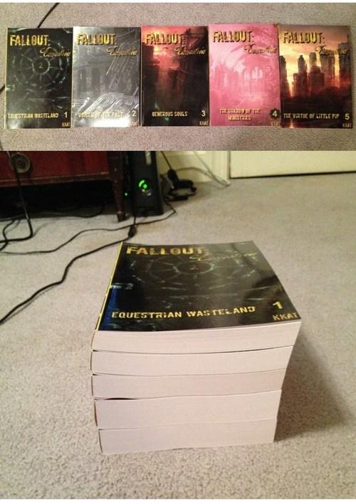 IRL books fanfics fallout equestria - 7636722944