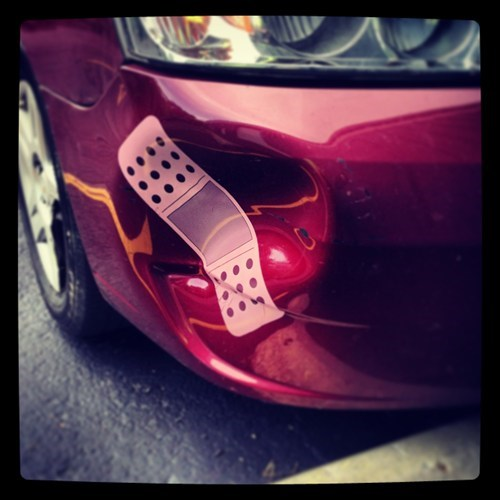 dents,cars,funny,bandaids