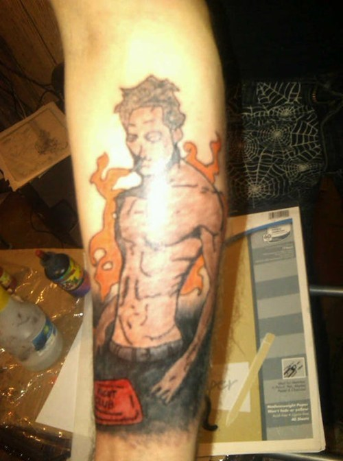 FAIL,tattoos,funny,fight club,g rated,Ugliest Tattoos