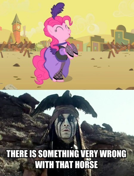 pinkie pie,Johnny Depp,The Lone Ranger