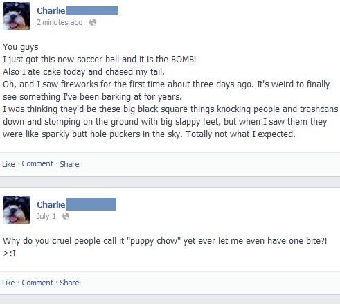 Charlie: A Dog on Facebook