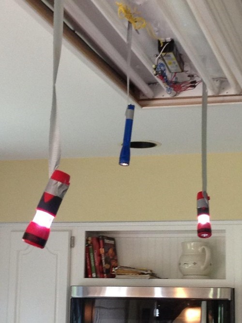 flashlights,elegant lighting,duct tape,funny