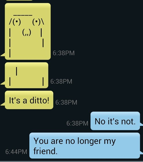 wtf texting sms ditto - 7640900864