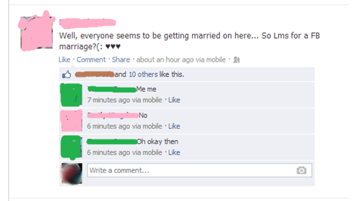 marriage,rejected,married,facebook marriage