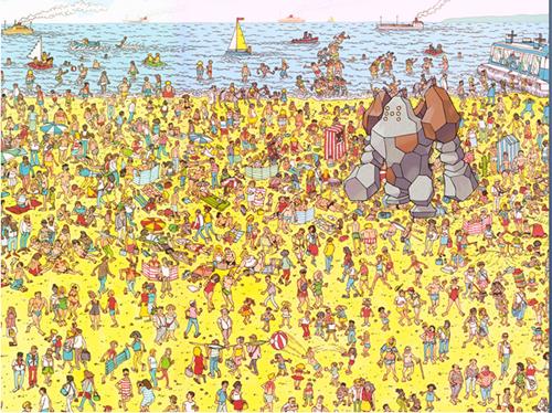 Pokémon wheres waldo regirock - 7642014464