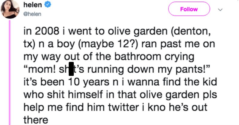 twitter gross olive garden ridiculous funny - 7642117