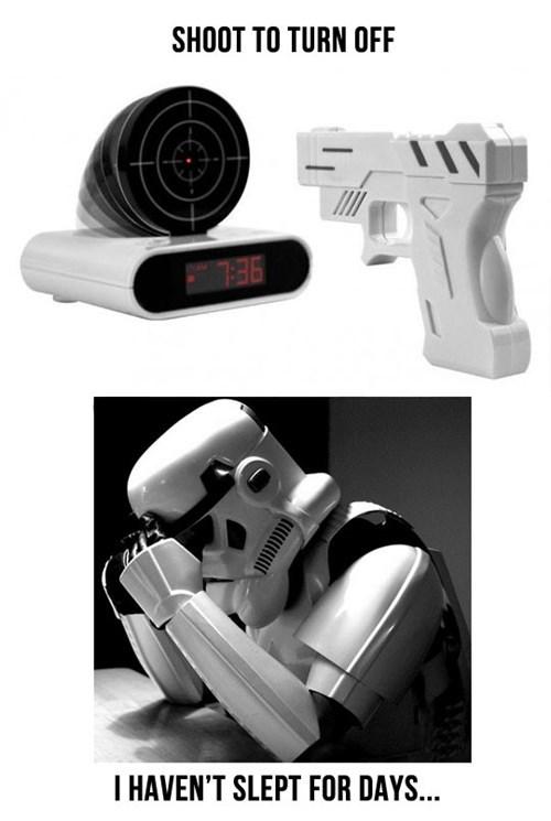 star wars alarm clock stormtrooper darth vader monday thru friday g rated - 7642600448
