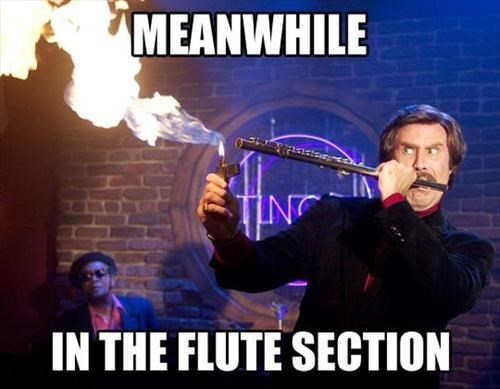 Music fire flutes funny Ron Burgundy anchorman - 7642604032