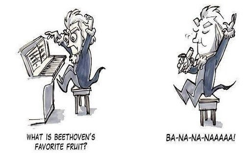 Beethoven,beethovens-5th,Music,bananas,puns,funny