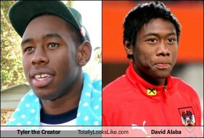 david alaba,totally looks like,Tyler The Creator,funny