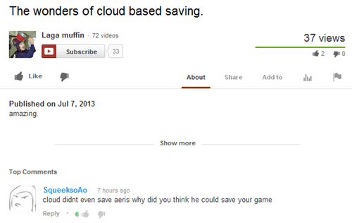 final fantasy youtube aeris cloud final fantasy VII - 7642878464