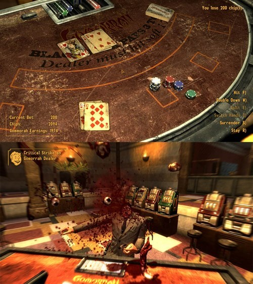 blackjack gambling cheating fallout new vegas