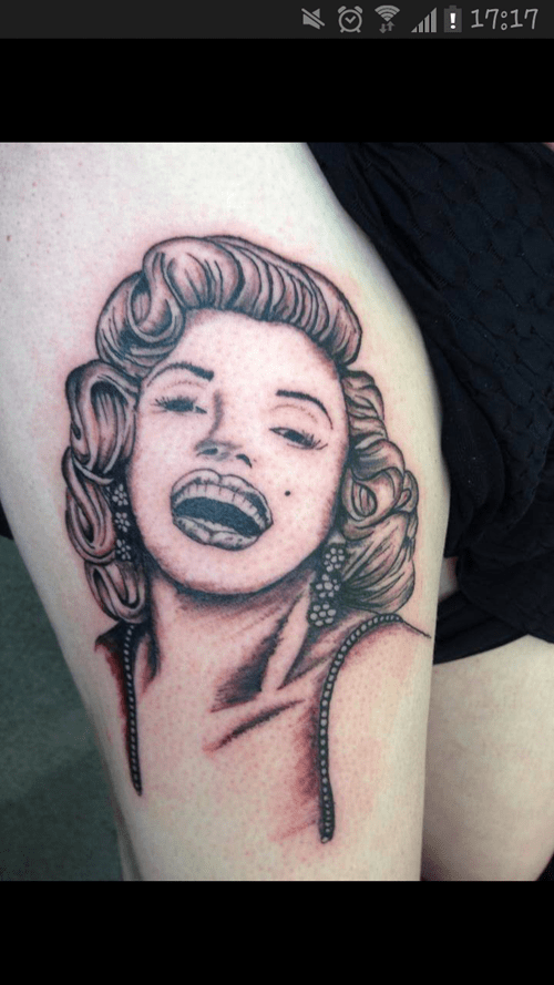 tattoos marilyn monroe funny derp - 7642914304