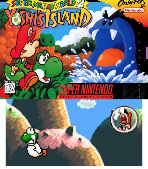 yoshis-island,baby mario,escort mission,super mario world 2