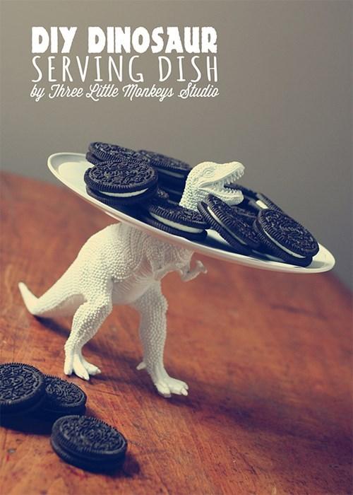 plate design dinosaur DIY funny - 7642977280