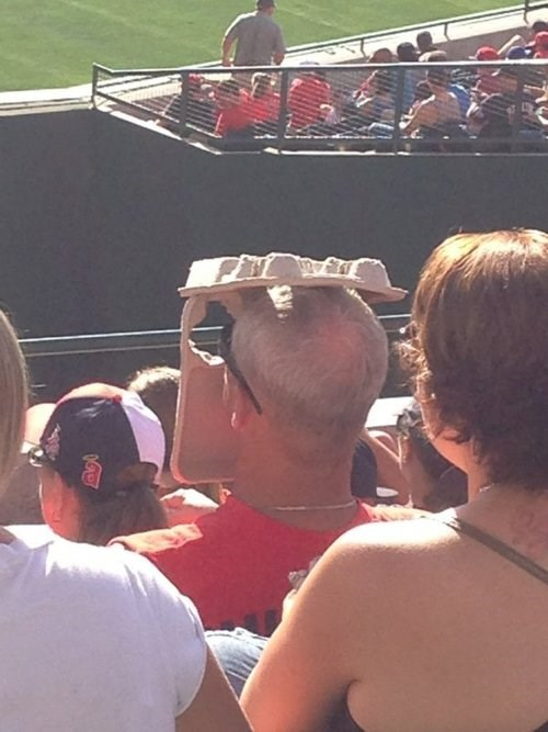 baseball games sun funny sun visor g rated there I fixed it
