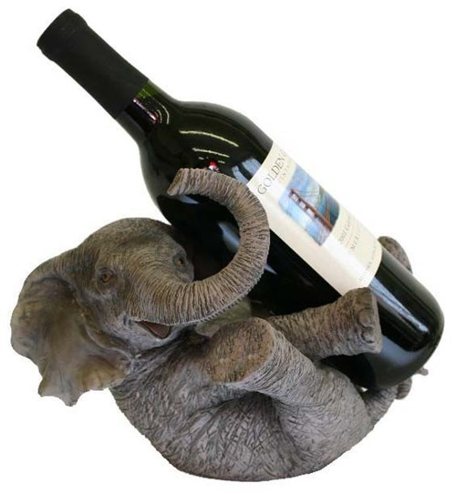 wine holder elephants funny