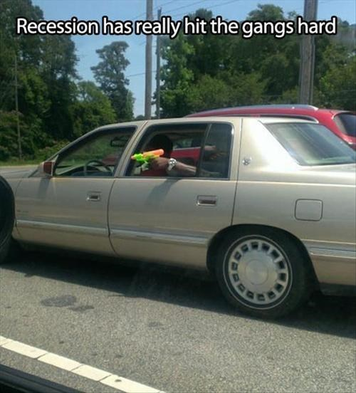 water guns,summer,recession,gangs