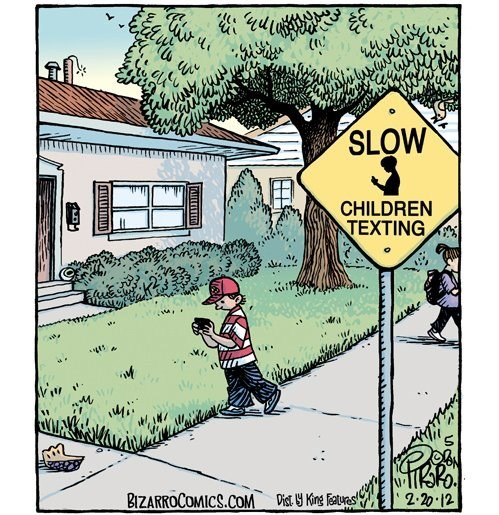 texting while walking slow children texting funny - 7643269120