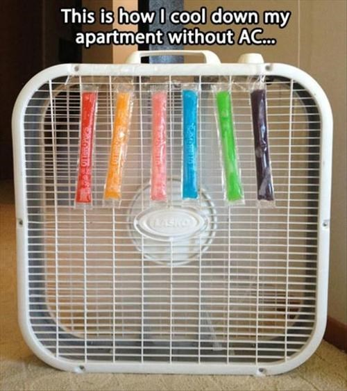 summer popsicles fans air conditioning - 7643327488