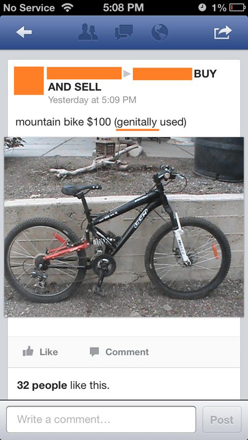 genitals bikes craigslist - 7643592192