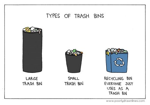 trash,sad but true,recycling,funny
