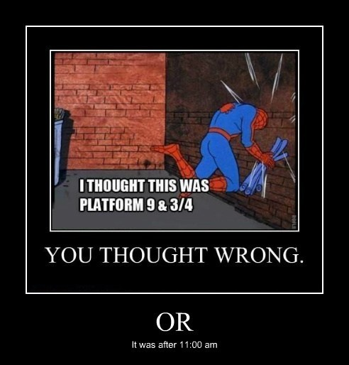 thought wrong,Harry Potter,Spider-Man,funny