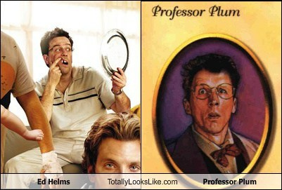 ed helms totally looks like professor plum funny
