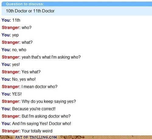 Omegle David Tennant fandom Matt Smith doctor who - 7644230400