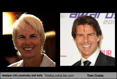 Tom Cruise totally looks like gail kelly funny