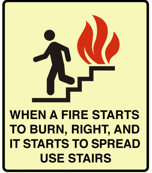 disclosure fire advice