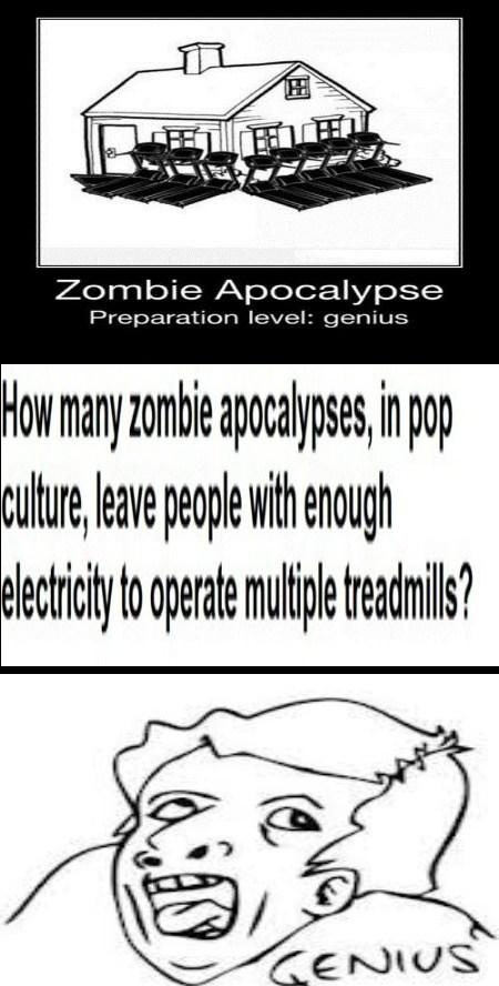treadmills,zombie,genius,funny