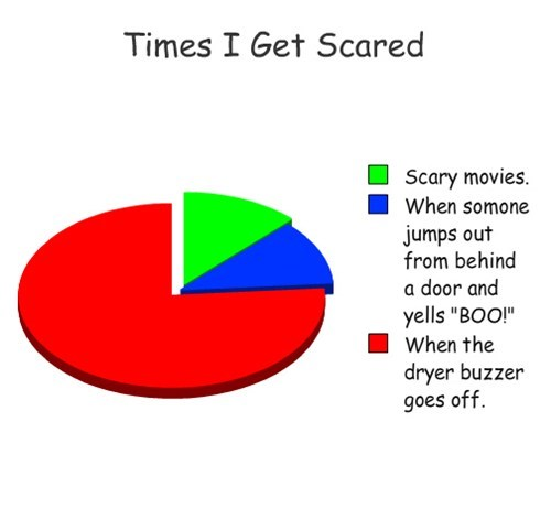 pie charts dryer scared graphs funny