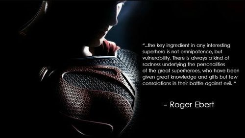 roger ebert,superheroes,quote,funny,superman