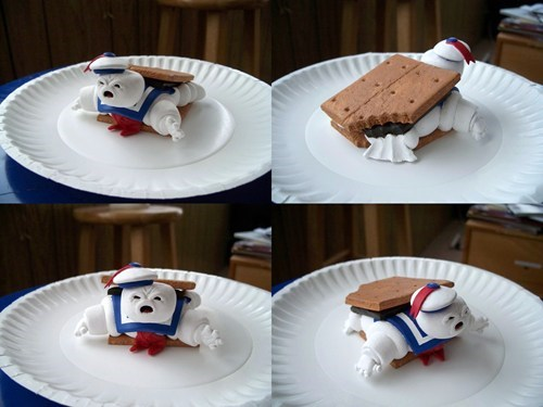 marshmallows wtf Stay Puff Marshmallow Man funny nom nom nom - 7645168128