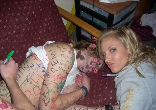 drunk,marker,passed out,funny