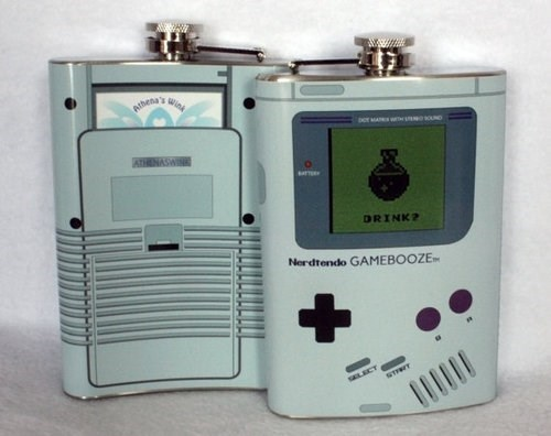 nerds flask video games gameboy after 12 funnny g rated - 7645445376