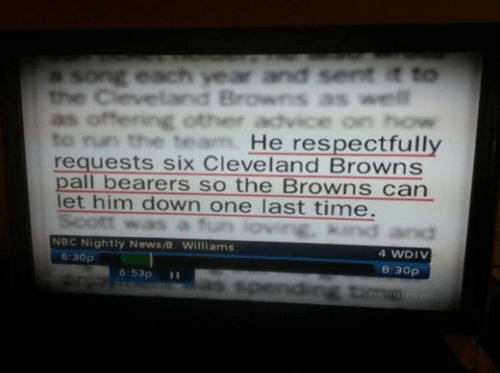 pallbearers cleveland browns funeral obituary - 7645569024